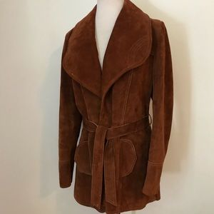 Vintage Lane Bryant suede hippie leather jacket-XL